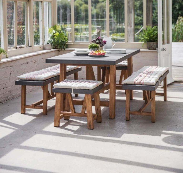 Table & Bench Set - Ascot