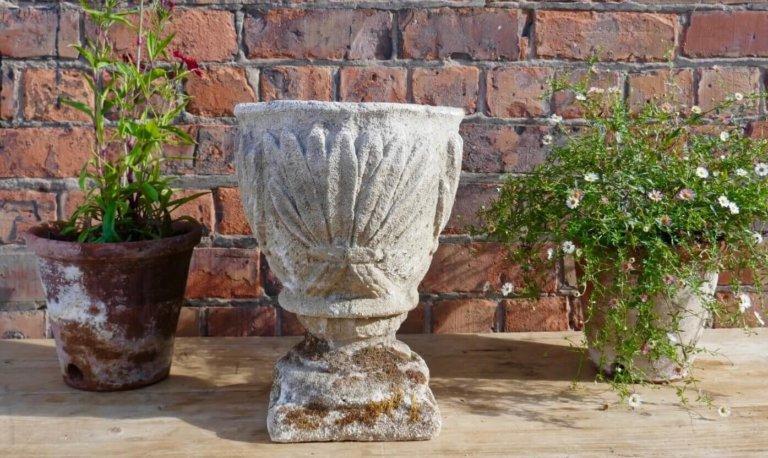 Vintage French Stone Urn