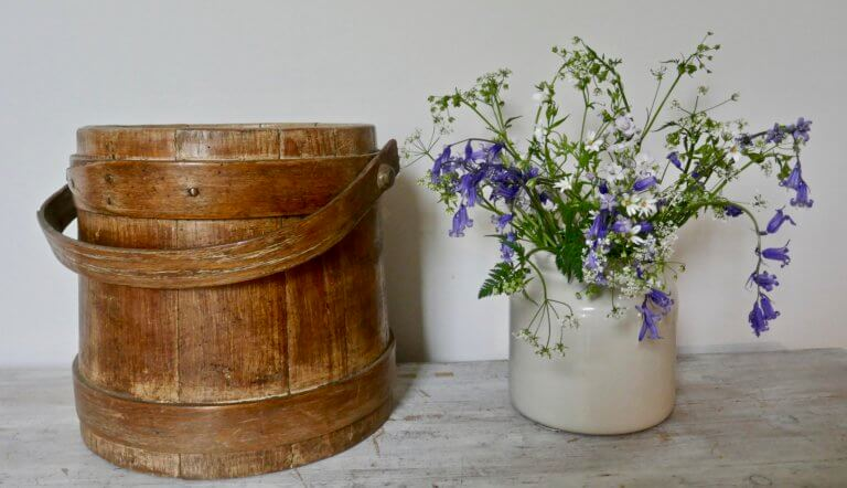 Antique Wooden Firkin/Sugar Bucket