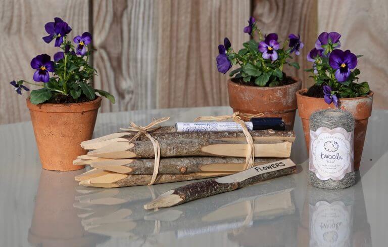 Hazel Plant Markers & Garden Twine