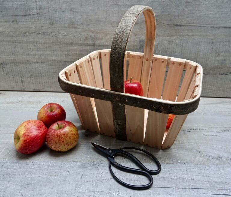 Garden Basket - Sustainably Sourced Coppiced British Wood