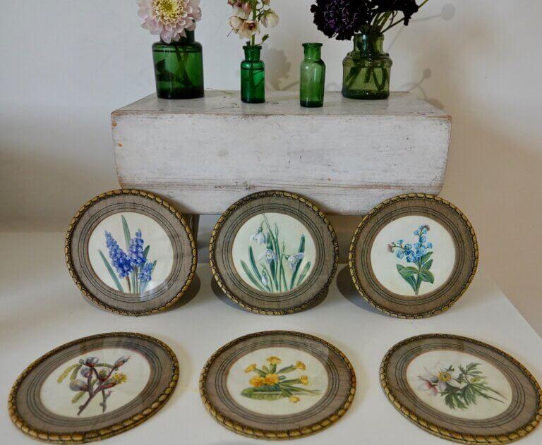 Vintage Hand-Painted Coasters